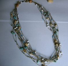 Micro macrame necklace Multi strand tribal by EgyptianInspirations, $49.99