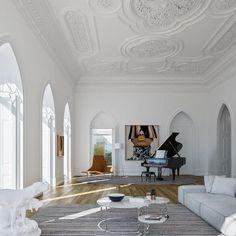Home Interior Vintage Decoration Inspiration, Decoration Design, Decor Interior Design, Interior Decorating, Interior Inspiration, Home Interior, Luxury Interior, Interior Architecture, Interior And Exterior