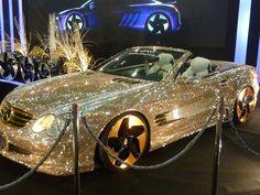 Swarovski Benz, sieh dir das an :) – – – Cars – Super Autos Mercedes Auto, Gold Mercedes, Fancy Cars, Cute Cars, New Sports Cars, Sport Cars, Swarovski, Honda Accord Coupe, Carros Lamborghini