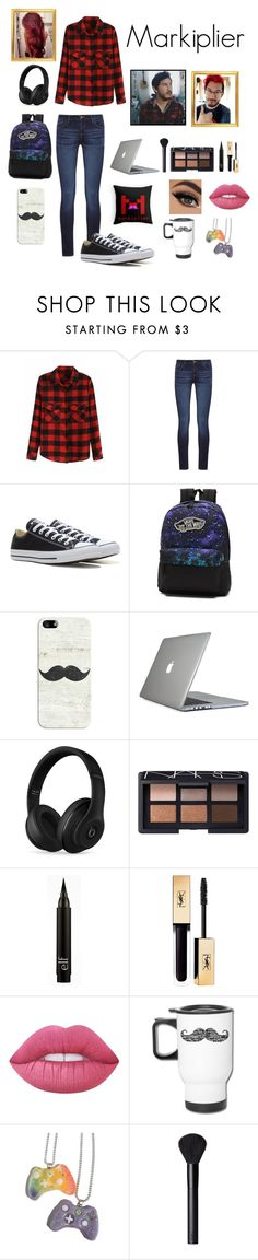 """""""Markiplier inspired outfit"""" by geekyoutfits101 ❤ liked on Polyvore featuring DL1961 Premium Denim, Converse, Vans, Casetify, Speck, Beats by Dr. Dre, NARS Cosmetics, Lime Crime, Penumbra and youtube"""