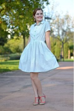 Ah, what I wouldn't give for a great shirtdress pattern and the skills to make it.