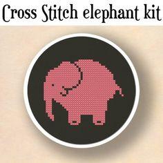 Elephant Cross Stitch Kit