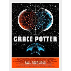 Brilliant! Screenprinted posters for the upcoming #gracepotter fall tour by #aestheticapparatus -  #gigposter #gracepotter #screenprint
