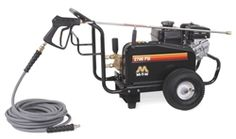 Mi-T-M Pressure Washer - JCW-2703-0MHB Pump: Belt drive triplex piston AR pump with ceramic plungers · Stainless-steel and brass unloader · Adjustable pressure · Forged brass manifold · Thermal relief valve · Water filter with clear sleeve for screen inspection.  Features        PSI 2700      GPM 2.4  Read more here http://www.shopetsonline.com/product-p/jcw-2703-0mhb.htm#