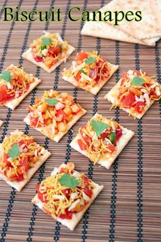 Recipe of Biscuit Canapes | How to Make Biscuit Canapes #canapes #biscuit #salad
