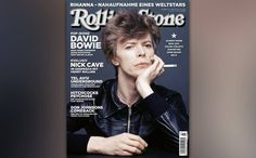 David Bowie on the March cover of the German edition of Rolling Stone.