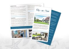 We were appointed to design and print a DL 4 sided folded leaflet - printed full colour on 135gsm silk paper.  The leaflet is to be used by our client to promote their well-equipped self contained studio annexe in St Ives. Chy-an-Veor, located in a quiet residential area of the town, is suitable for 2 adults, and is the perfect little retreat to get away from it all.  2000 Designed and printed - £155.00