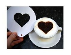 Heart Design Coffee Stencil