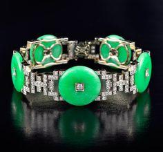 Art Deco J. E. Caldwell & Co. Sapphire Diamond Bracelet