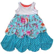Petal Dress Kids Stylish Dresses Sparkly Blue Pink | Cinderella At The Ball