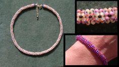 free tutorial Chenille stitch necklace https://www.youtube.com/watch?v=K6MbZqKrHbU