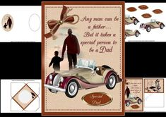 CUP777752_1209 - a mini kit especially for dad made with fathers day in mind but would also work for birthday has a faded picture of a man w...