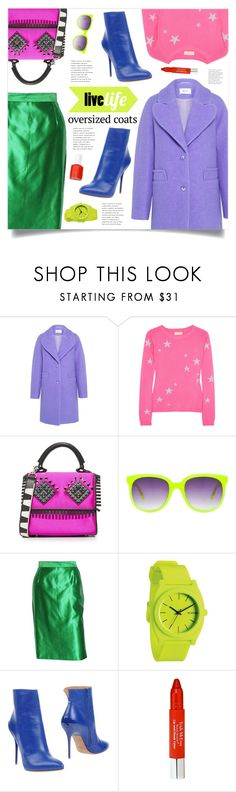 """""""Color Therapy"""" by marina-volaric ❤ liked on Polyvore featuring Carven, Chinti and Parker, Les Petits Joueurs, Matthew Williamson, Yves Saint Laurent, Nixon, Maison Margiela, Trish McEvoy, Essie and oversizedcoats"""
