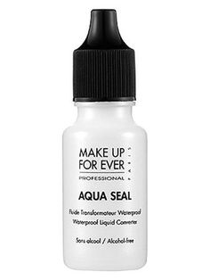 What it is:A liquid converter that transforms powder formulas and pencils into smudge-proof, long lasting makeup.What it does:Aqua Seal instantly converts your favorite makeup products into waterproof formulas. Its lightweight, liquid texture int Eyeshadow Primer, Eye Primer, Cream Eyeshadow, Makeup Tips, Beauty Makeup, Eye Makeup, Makeup Products, Beauty Products, Pool Makeup
