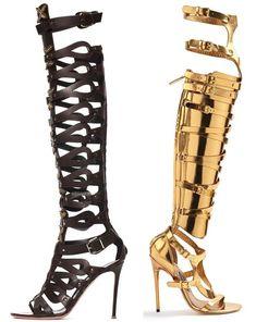 altuzarra and tom ford knee high sandals #hothighheelsmistress