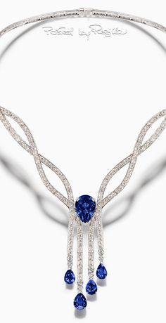 GABRIELLE'S AMAZING FANTASY CLOSET | Diamond & Sapphire Necklace |