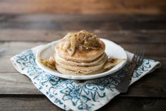 Vanilla Bean Pancakes with Maple Butter Pears | Naturally Ella