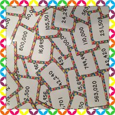 Comparing and Ordering Large Numbers - The cards are a free download!