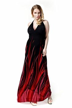 Plus Size L-7X Women s Halter Party Maxi Dress Prints Cocktail Prom Long  Dress(Black c47373e76672