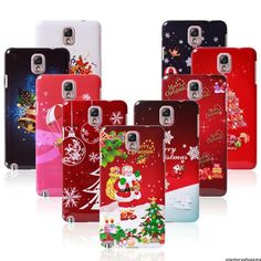 Christmas Santa Claus Snow Tree Case Cover Skin For Samsung Galaxy Note 3 N9000