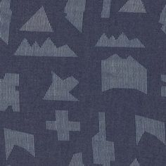 Art Gallery Fabrics - Denim Prints - Puzzle Sandblast in Indigo