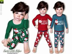 Santa's Little Helper outfit for toddlers by Lillka - Sims 3 Downloads CC Caboodle
