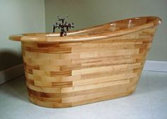 Beautiful Wooden Bath, Made In Scotland Using Traditional Boat Building  Techniques!