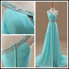 Sexy Prom Dress, One Shoulder Prom Dresses,Blue Prom Dress,Chiffon Prom Dresses,Formal Dress on Luulla Chiffon Evening Dresses, Prom Dresses Blue, Formal Evening Dresses, Formal Gowns, Ball Dresses, Pretty Dresses, Evening Gowns, Beautiful Dresses, Dress Prom