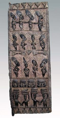 Africa | Carved wooden door from the Yoruba people of Nigeria. - http://nigeria.mycityportal.net