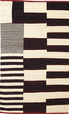 Medina Black and White Rug from the nanimarquina collection at Modern Area Rugs