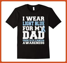 Mens I Wear Light Blue For My Dad - Prostate Cancer T-Shirt XL Black - Relatives and family shirts (*Partner-Link)