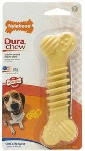 Dura Chew Plus Bone Dog Toy - Chicken Flavor