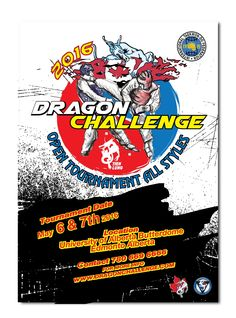 Design #10 by Yoga Zoeko | Dragon Challenge tournament poster for a martial art event