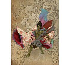 Fujin Art by Adrian Smith.