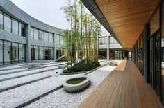 Love this courtyard - Ming-Tang Hot Spring Resort / CT Design
