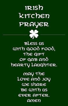 Irish Kitchen Prayer