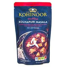 Buy Mumbai Kolhapuri Masala Curry Sauce online from Spices of India - The UK's leading Indian Grocer. Free delivery on Mumbai Kolhapuri Masala Curry Sauce - Kohinoor (conditions apply). Masala Sauce, Masala Curry, Curry Sauce, Spicy Dishes, Cooking Temperatures, Recipe Mix, Mixed Vegetables, Sunflower Oil