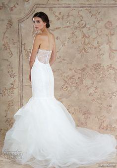 sareh nouri fall 2016 bridal romantic strapless sweetheart neckline mermaid wedding dress style kamelia back view