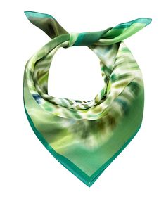 Green silk blend all-over logo scarf Sale - Fendi