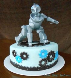 the robot cake,inspired by Carlos Lischetti design