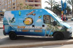 Rotulacion furgoneta Kitecenter Van, Vehicles, Design, Rolling Stock, Vans, Design Comics, Vehicle