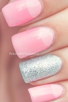 OPI - Pink Friday pink gradient nail art half moon gradient nail art manicure nail polish