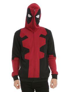 Marvel Deadpool Costume Full Zip Hoodie.  NEED.
