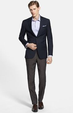 78e2e2ab0fa12 Ted Baker London  Judd  Trim Fit Navy Wool Blazer available at. Lookastic  For Men