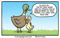 Walking With My Kid - Bonus Panel - Fowl Language Comics Parenting Humor, Kids And Parenting, Parenting Advice, Fowl Language Comics, Motherhood Funny, Mommy Humor, Funny Duck, New Funny Memes, Have A Laugh