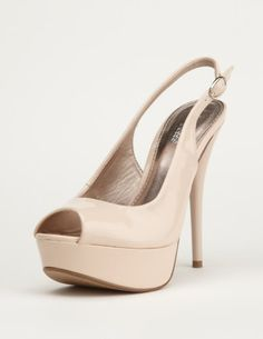 slingback patent peep-toe pump $15-$30 #heels #shoes