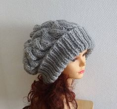 Unisex Knit Slouchy Hat Beanie Womens Hat Oversized Slouchy