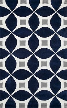 Shop the Hand Tufted Gabriela Rug - Color: Navy; Size: x by NuLoom. Made from Mod-Acrylic in China. This Hand Tufted Navy rug has a pile_height, perfect for a soft yet durable addition to your home. Navy Rug, Navy Blue Area Rug, Blue Area Rugs, Contemporary Area Rugs, Modern Area Rugs, Contemporary Design, Modern Design, Trellis Rug, Affordable Rugs