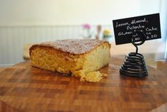 "Mum's recipe. Lemon, almond and polenta cake. ""Homemade, Gluten-free"""