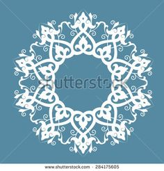 Ethnic round ornament